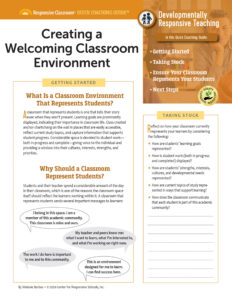 Quick Coaching Guide: Creating a Welcoming Classroom Environment image