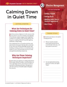 Quick Coaching Guide Calming Down in Quiet Time